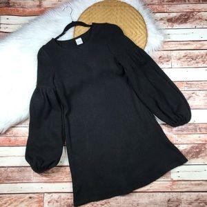Selfie leslie black balloon sleeve sweater dress